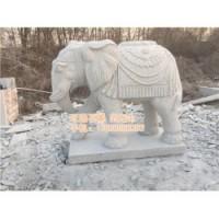 酒店门口摆放石雕大象、甘肃石雕大象、旺通