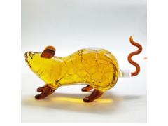 动物造型玻璃瓶老鼠形酒瓶厂家直销