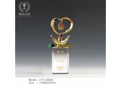 光荣退伍水晶奖牌|从警周年留念摆件|公安局表彰杰出民警奖杯