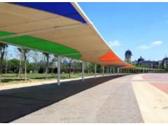 监利雨棚建造 吊塔式膜结构车棚 监利充电桩遮雨棚膜结构维修