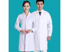 涤棉白大褂长袖药店工作服食品厂工装实验室短袖医护护士服定制