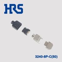 3240-8P-C(50)托盘包装矩形插头黑色