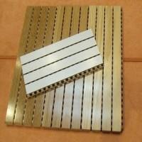 福州市会议室开槽穿孔木质吸音板